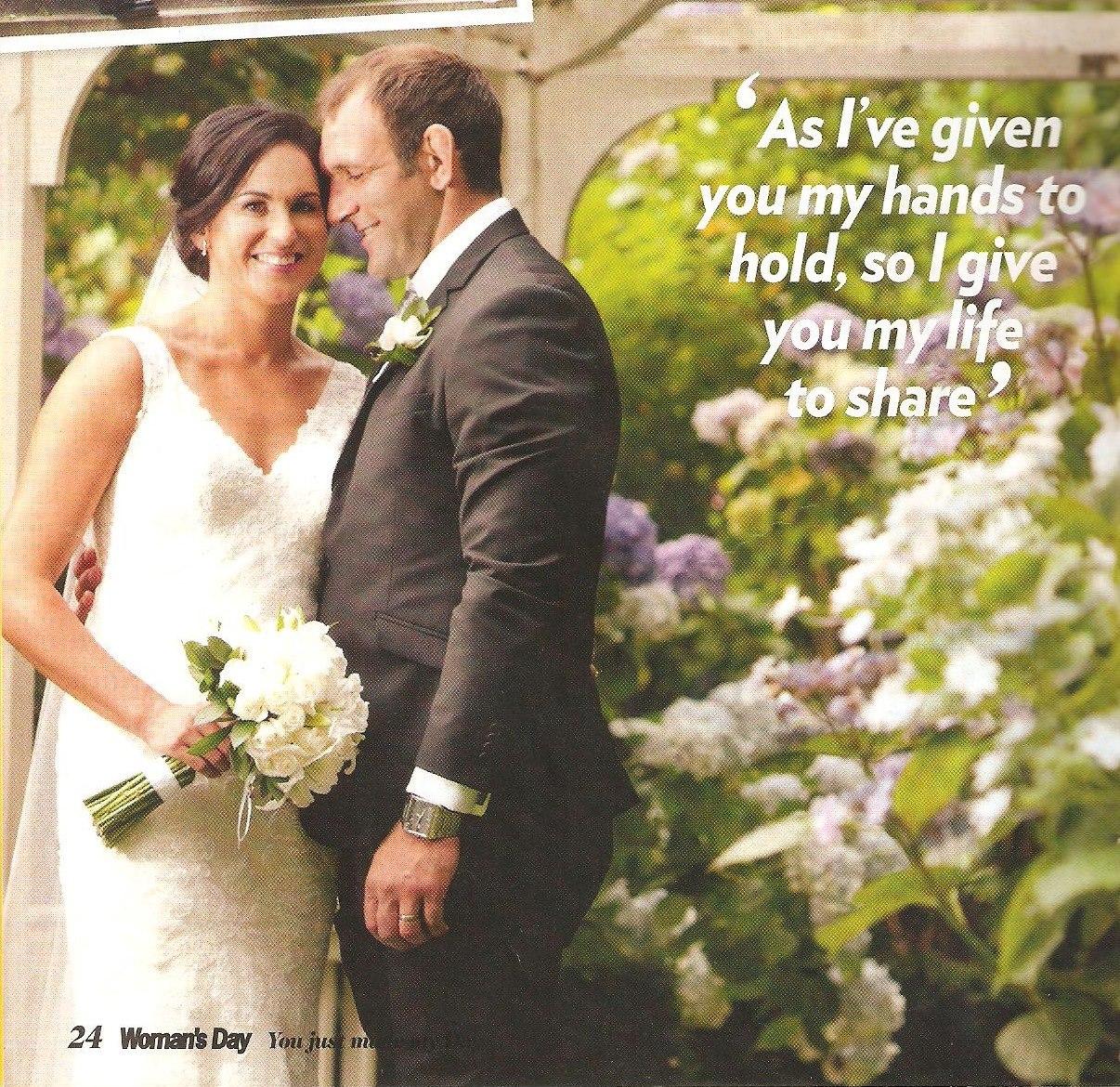 Kayla's Beautiful Wedding Featured On Woman's Day Magazine