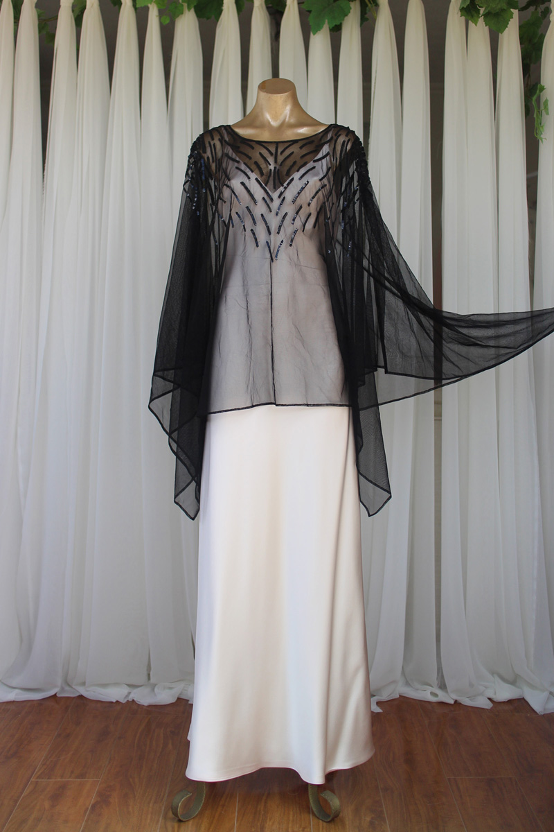 Black Sequins Kaftan